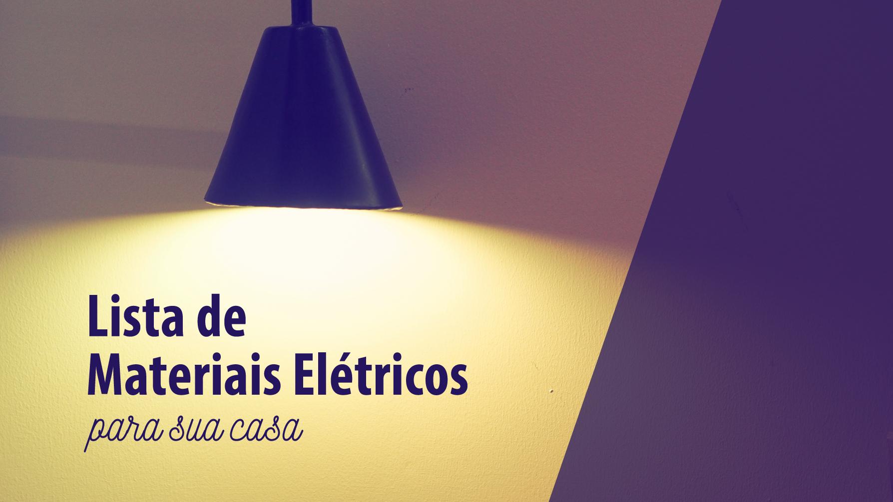 lista de materiais elétricos