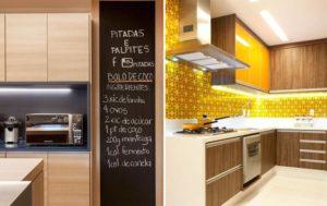 iluminação de LED no painel da cozinha