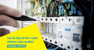 tipos de fios e cabos elétricos