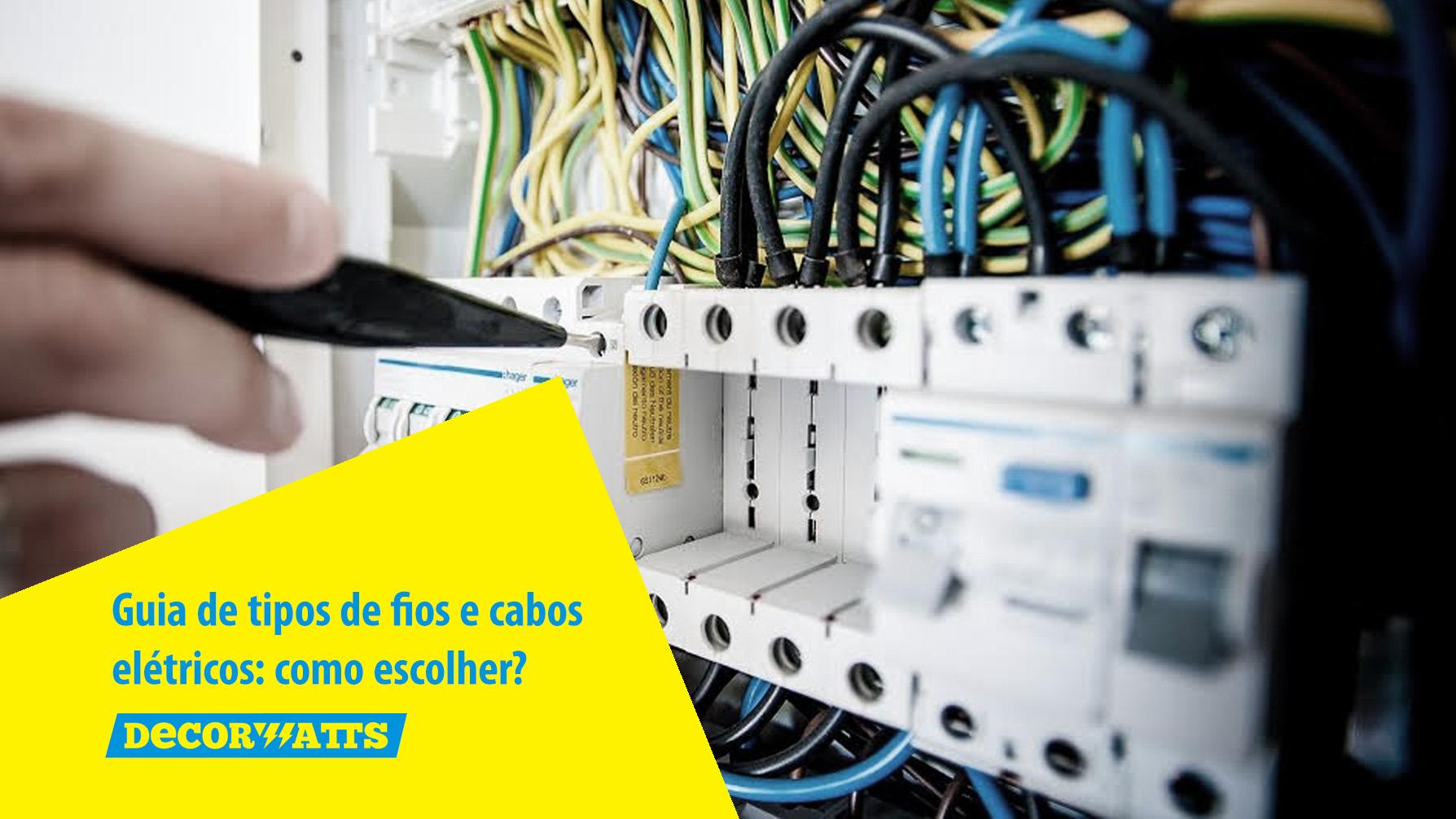 0673153f2 Tipos de fios e cabos elétricos  um guia de como escolher