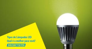 tipos de lâmpadas LED